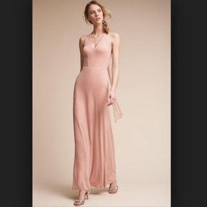 NWOT BHLDN rose colored billiard dress bridesmaid